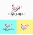 beautiful flying bird logo design vector image vector image