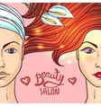 beauty salon makeup vector image