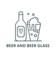 beer and beer glass line icon beer and vector image