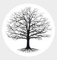 black silhouette a bare tree vector image