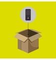 box control remote tv vector image