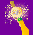 bubbly new year 2019 vector image vector image