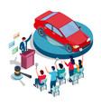 car auction and bidding concept for web vector image