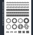 Celtic borders patterns and rings set