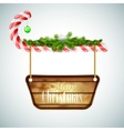 Christmas Candy With Wooden Board vector image