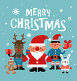 christmas characters background santa vector image