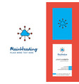 cloud network creative logo and business card vector image vector image