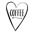 coffee word in lettering vector image vector image