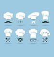 cook chef hat logo vector image