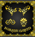 decorative floral design elements and ornaments vector image