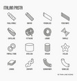 different types of italian pasta concept vector image
