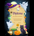 diploma certificate template kids education vector image vector image