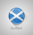 European flags set - Scotland vector image vector image