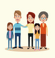 family with grandmother image vector image vector image