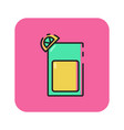flat color cold drink icon vector image vector image