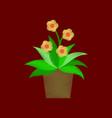 flat shading style icon geranium vector image vector image