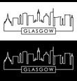 glasgow skyline linear style editable file vector image vector image