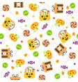 halloween seamless pattern flat design vector image vector image