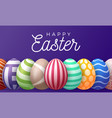 happy easter greeting card a horizontal banner vector image vector image