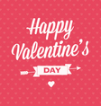 Happy valentines day card with ribbons vector | Price: 1 Credit (USD $1)