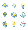 Idea icons set isolated on white background vector image