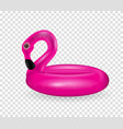 inflatable circle for swimming and relaxing pink vector image