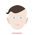 little boy face icon flat style vector image