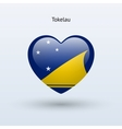 Love Tokelau symbol Heart flag icon vector image vector image