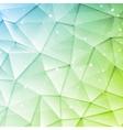 Low poly tech brochure elements design vector image vector image