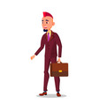 man in business suit with a briefcase in hand and vector image vector image