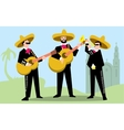 Mariachi Band in Sombrero with Guitar vector image vector image