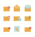 Message Icons Flat vector image