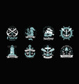 nautical theme set of logos or labels cruise vector image