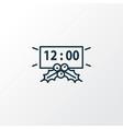 new year countdown icon line symbol premium vector image