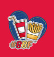 patches fast food vector image vector image