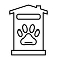 pet hotel house icon outline style vector image