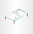 ping pong table icon design vector image