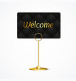 realistic 3d detailed card holder welcome concept vector image vector image
