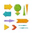 realistic plasticine arrows vector image vector image