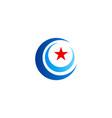 round circle star logo vector image vector image