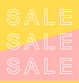 sale banner in modern style vector image vector image
