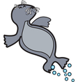 Seal pup vector image vector image