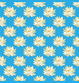seamless pattern with yellow or mexican waterlily vector image vector image