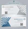 set banner web template geometric horizontal vector image