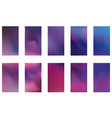 set of blurred nature dark purple violet pink and vector image