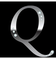 silver metallic letter Q vector image