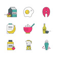 Sport Nutrition Icons vector image vector image