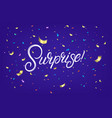 surprise hand written lettering text vector image vector image
