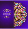 vintage floral style brochure and flyer design vector image vector image