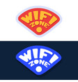 wifi zone sticker for social media content hand vector image vector image